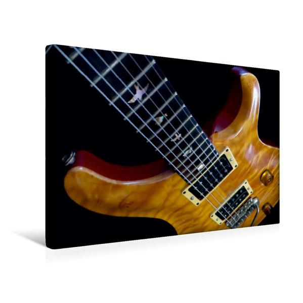 Premium Textil-Leinwand 45 cm x 30 cm quer, Old Rock Guitar | Wandbild, Bild auf Keilrahmen, Fertigbild auf echter Leinwand, Leinwanddruck - Coverbild