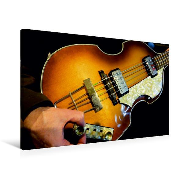 Premium Textil-Leinwand 75 cm x 50 cm quer, Violin Bass   Wandbild, Bild auf Keilrahmen, Fertigbild auf echter Leinwand, Leinwanddruck - Coverbild