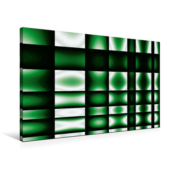 Premium Textil-Leinwand 90 cm x 60 cm quer, glowing green | Wandbild, Bild auf Keilrahmen, Fertigbild auf echter Leinwand, Leinwanddruck - Coverbild