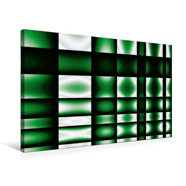 Premium Textil-Leinwand 75 cm x 50 cm quer, glowing green | Wandbild, Bild auf Keilrahmen, Fertigbild auf echter Leinwand, Leinwanddruck - Coverbild