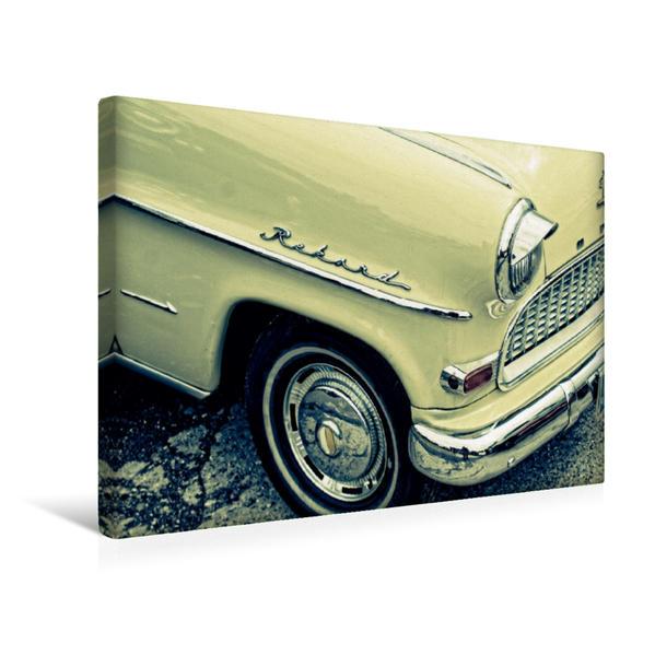 Premium Textil-Leinwand 45 cm x 30 cm quer, Oldtimer Details | Wandbild, Bild auf Keilrahmen, Fertigbild auf echter Leinwand, Leinwanddruck - Coverbild