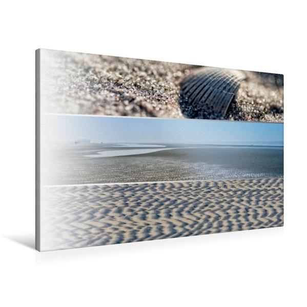 Premium Textil-Leinwand 90 cm x 60 cm quer, Ein Motiv aus dem Kalender Küstenstreifen an der Nordsee | Wandbild, Bild auf Keilrahmen, Fertigbild auf echter Leinwand, Leinwanddruck - Coverbild