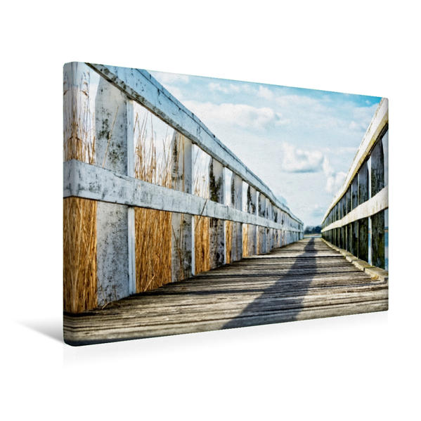 Premium Textil-Leinwand 45 cm x 30 cm quer, Ein Motiv aus dem Kalender Lichtspiele auf der Halbinsel Darß | Wandbild, Bild auf Keilrahmen, Fertigbild auf echter Leinwand, Leinwanddruck - Coverbild