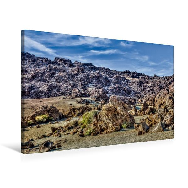 Premium Textil-Leinwand 75 cm x 50 cm quer, Am Montaña Blanca | Wandbild, Bild auf Keilrahmen, Fertigbild auf echter Leinwand, Leinwanddruck - Coverbild