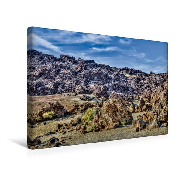 Premium Textil-Leinwand 45 cm x 30 cm quer, Am Montaña Blanca | Wandbild, Bild auf Keilrahmen, Fertigbild auf echter Leinwand, Leinwanddruck - Coverbild