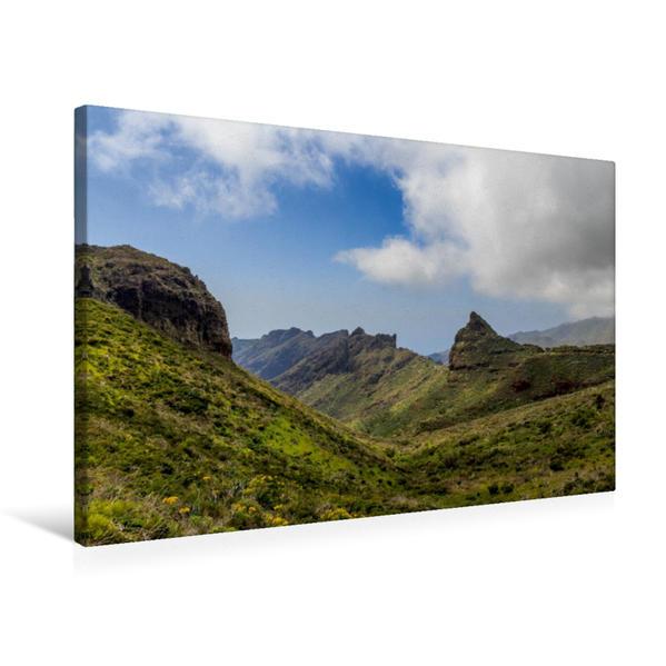 Premium Textil-Leinwand 75 cm x 50 cm quer, Teno-Gebirge | Wandbild, Bild auf Keilrahmen, Fertigbild auf echter Leinwand, Leinwanddruck - Coverbild