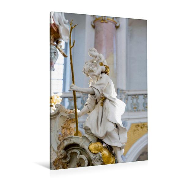 Premium Textil-Leinwand 80 cm x 120 cm  hoch, Ein Motiv aus dem Kalender Vierzehnheiligen | Wandbild, Bild auf Keilrahmen, Fertigbild auf echter Leinwand, Leinwanddruck - Coverbild