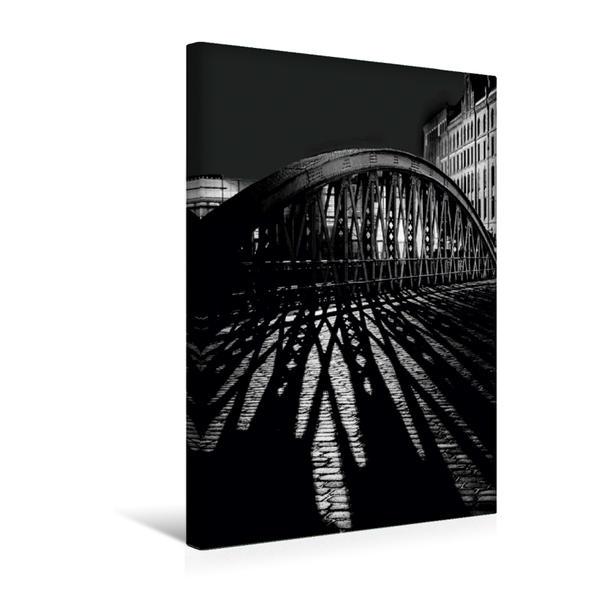 Premium Textil-Leinwand 30 cm x 45 cm hoch, Hamburg, Speicherstadt | Wandbild, Bild auf Keilrahmen, Fertigbild auf echter Leinwand, Leinwanddruck - Coverbild