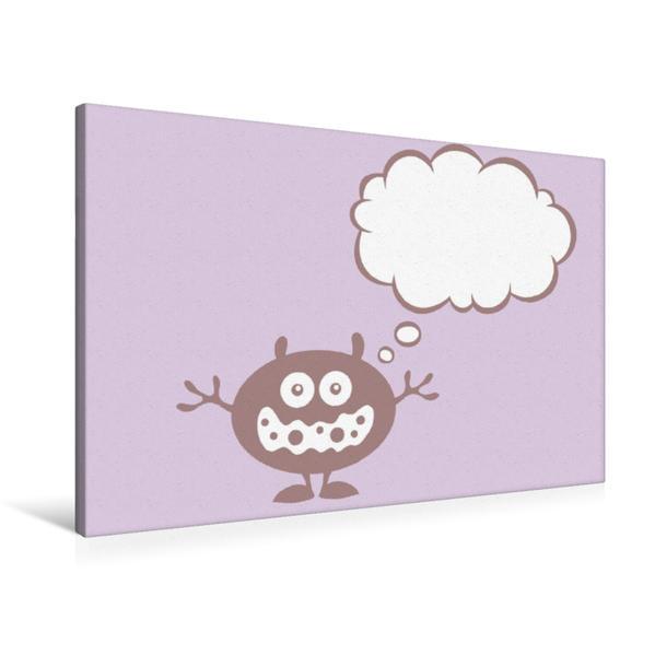 Premium Textil-Leinwand 90 cm x 60 cm quer, Ein Motiv aus dem Kalender Nicht vergessen! Eine Erinnerungshilfe im Comicstil | Wandbild, Bild auf Keilrahmen, Fertigbild auf echter Leinwand, Leinwanddruck - Coverbild