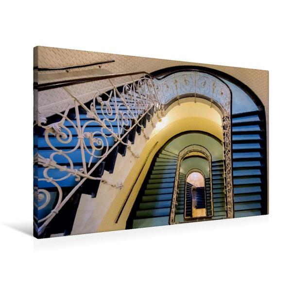 Premium Textil-Leinwand 90 cm x 60 cm quer, Faszination Treppen | Wandbild, Bild auf Keilrahmen, Fertigbild auf echter Leinwand, Leinwanddruck - Coverbild