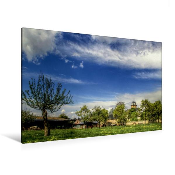 Premium Textil-Leinwand 120 cm x 80 cm quer, Eifel Impressionen | Wandbild, Bild auf Keilrahmen, Fertigbild auf echter Leinwand, Leinwanddruck - Coverbild