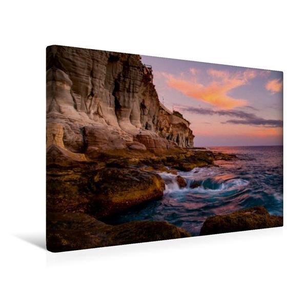 Premium Textil-Leinwand 45 cm x 30 cm quer, Westküste Gran Canaria   Wandbild, Bild auf Keilrahmen, Fertigbild auf echter Leinwand, Leinwanddruck - Coverbild
