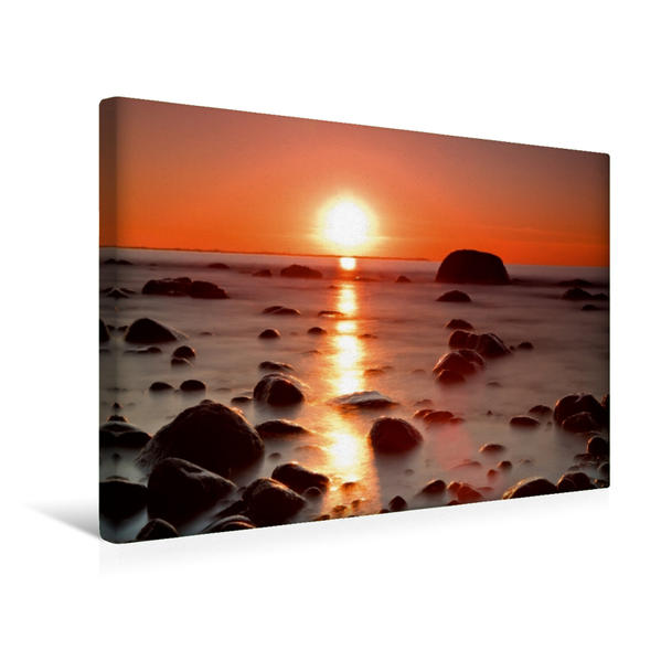 Premium Textil-Leinwand 45 cm x 30 cm quer, Sonnenuntergang   Wandbild, Bild auf Keilrahmen, Fertigbild auf echter Leinwand, Leinwanddruck - Coverbild