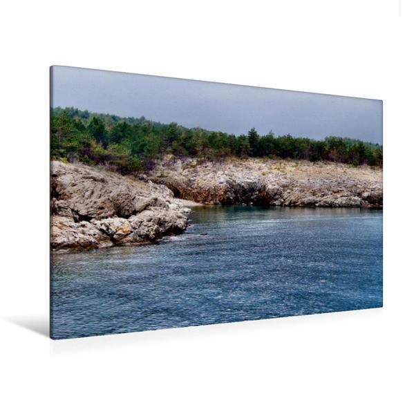 Premium Textil-Leinwand 120 cm x 80 cm quer, Ein Motiv aus dem Kalender Strand Küste Buchten | Wandbild, Bild auf Keilrahmen, Fertigbild auf echter Leinwand, Leinwanddruck - Coverbild