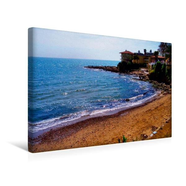 Premium Textil-Leinwand 45 cm x 30 cm quer, Ein Motiv aus dem Kalender Strand Küste Buchten | Wandbild, Bild auf Keilrahmen, Fertigbild auf echter Leinwand, Leinwanddruck - Coverbild