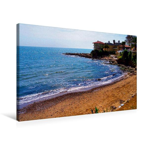 Premium Textil-Leinwand 75 cm x 50 cm quer, Ein Motiv aus dem Kalender Strand Küste Buchten   Wandbild, Bild auf Keilrahmen, Fertigbild auf echter Leinwand, Leinwanddruck - Coverbild