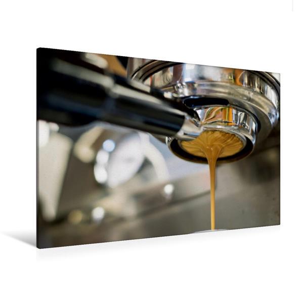 Premium Textil-Leinwand 120 cm x 80 cm quer, Hot Coffee | Wandbild, Bild auf Keilrahmen, Fertigbild auf echter Leinwand, Leinwanddruck - Coverbild