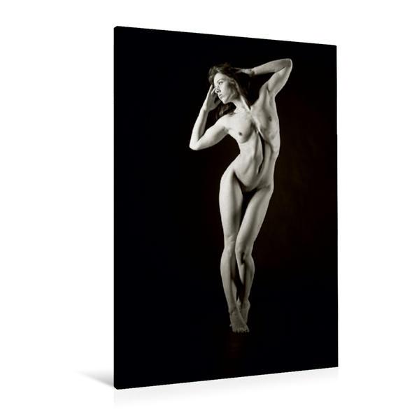 Premium Textil-Leinwand 80 cm x 120 cm  hoch, Ein Motiv aus dem Kalender Körper Formen in Schwarz Weiß | Wandbild, Bild auf Keilrahmen, Fertigbild auf echter Leinwand, Leinwanddruck - Coverbild
