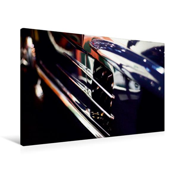 Premium Textil-Leinwand 90 cm x 60 cm quer, Mercedes 300 SL | Wandbild, Bild auf Keilrahmen, Fertigbild auf echter Leinwand, Leinwanddruck - Coverbild