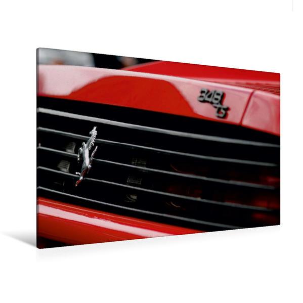 Premium Textil-Leinwand 120 cm x 80 cm quer, Ferrari 348 TS | Wandbild, Bild auf Keilrahmen, Fertigbild auf echter Leinwand, Leinwanddruck - Coverbild