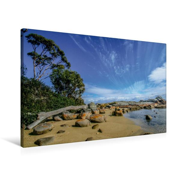 Premium Textil-Leinwand 90 cm x 60 cm quer, Binalong Bay TAS | Wandbild, Bild auf Keilrahmen, Fertigbild auf echter Leinwand, Leinwanddruck - Coverbild