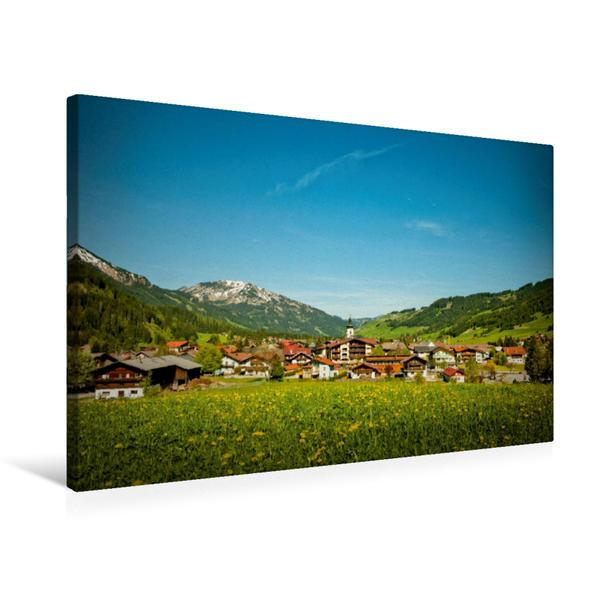 Premium Textil-Leinwand 75 cm x 50 cm quer, Tannheim   Wandbild, Bild auf Keilrahmen, Fertigbild auf echter Leinwand, Leinwanddruck - Coverbild