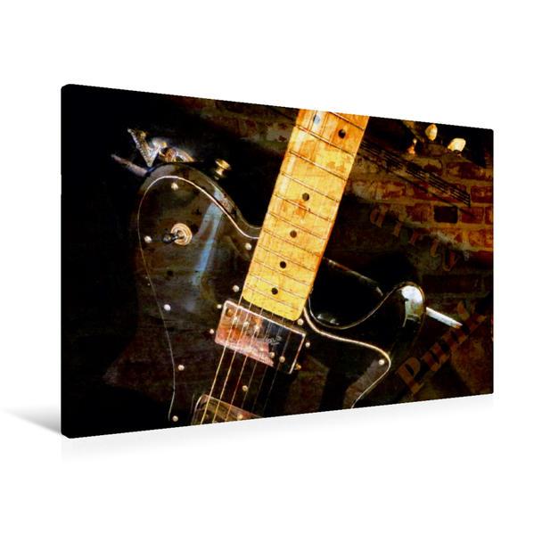Premium Textil-Leinwand 90 cm x 60 cm quer, Dirty Punk   Wandbild, Bild auf Keilrahmen, Fertigbild auf echter Leinwand, Leinwanddruck - Coverbild