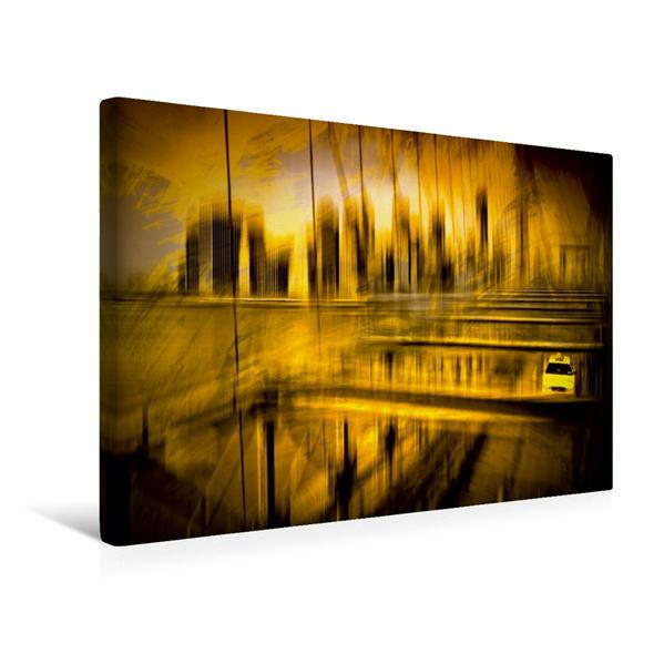 Premium Textil-Leinwand 45 cm x 30 cm quer, City-Shapes NYC | Wandbild, Bild auf Keilrahmen, Fertigbild auf echter Leinwand, Leinwanddruck - Coverbild