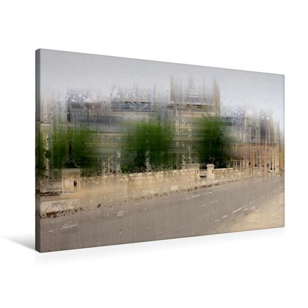 Premium Textil-Leinwand 90 cm x 60 cm quer, City-Art PARIS Pont Neuf   Wandbild, Bild auf Keilrahmen, Fertigbild auf echter Leinwand, Leinwanddruck - Coverbild
