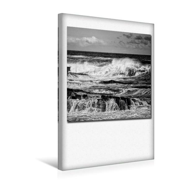 Premium Textil-Leinwand 30 cm x 45 cm hoch, Ein Motiv aus dem Kalender Ozean | Wandbild, Bild auf Keilrahmen, Fertigbild auf echter Leinwand, Leinwanddruck - Coverbild