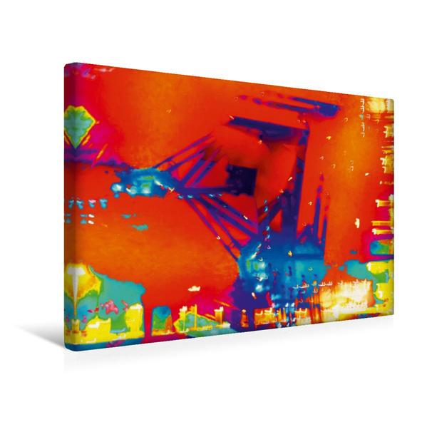 Premium Textil-Leinwand 45 cm x 30 cm quer, Ein Motiv aus dem Kalender Abstrakte Nacht - Kunstkalender von Gabi Hampe   Wandbild, Bild auf Keilrahmen, Fertigbild auf echter Leinwand, Leinwanddruck - Coverbild