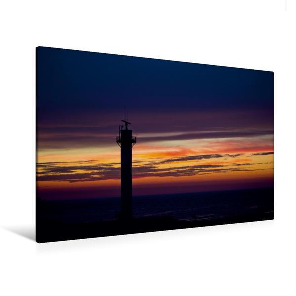 Premium Textil-Leinwand 120 cm x 80 cm quer, Farbenprächtiges Spiel am Horizont. Ein magischer Augenblick | Wandbild, Bild auf Keilrahmen, Fertigbild auf echter Leinwand, Leinwanddruck - Coverbild
