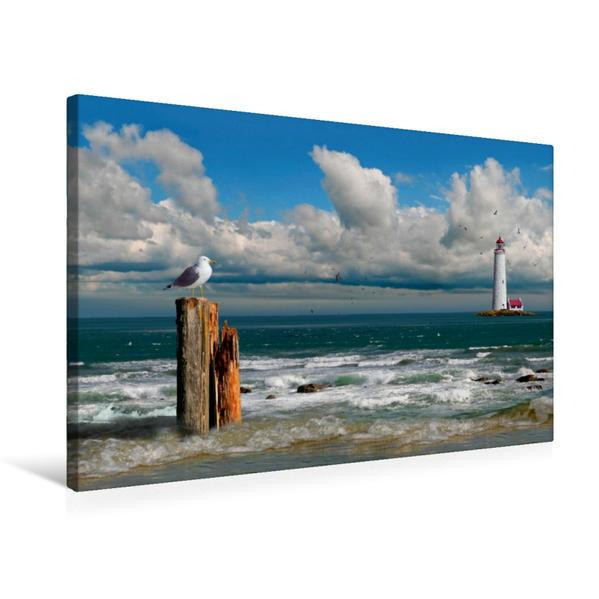 Premium Textil-Leinwand 75 cm x 50 cm quer, An der Küste | Wandbild, Bild auf Keilrahmen, Fertigbild auf echter Leinwand, Leinwanddruck - Coverbild