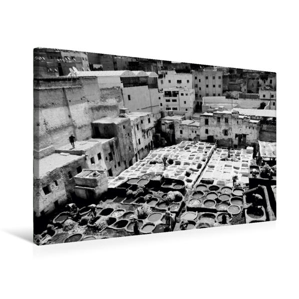 Premium Textil-Leinwand 75 cm x 50 cm quer, Gerberviertel in Fes | Wandbild, Bild auf Keilrahmen, Fertigbild auf echter Leinwand, Leinwanddruck - Coverbild