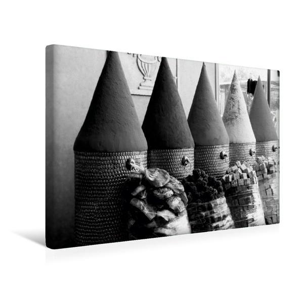 Premium Textil-Leinwand 45 cm x 30 cm quer, Gewürze im Souk von Marrakesch | Wandbild, Bild auf Keilrahmen, Fertigbild auf echter Leinwand, Leinwanddruck - Coverbild