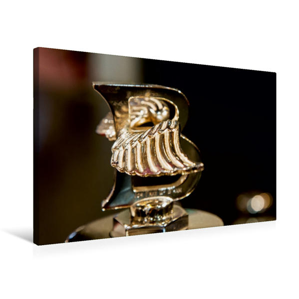 Premium Textil-Leinwand 75 cm x 50 cm quer, Bentley Kühlerfigur   Wandbild, Bild auf Keilrahmen, Fertigbild auf echter Leinwand, Leinwanddruck - Coverbild