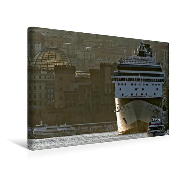 Premium Textil-Leinwand 45 cm x 30 cm quer, Neapel | Wandbild, Bild auf Keilrahmen, Fertigbild auf echter Leinwand, Leinwanddruck - Coverbild