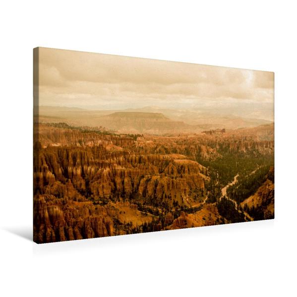Premium Textil-Leinwand 75 cm x 50 cm quer, Bryce Canyon - Immer wieder anders | Wandbild, Bild auf Keilrahmen, Fertigbild auf echter Leinwand, Leinwanddruck - Coverbild