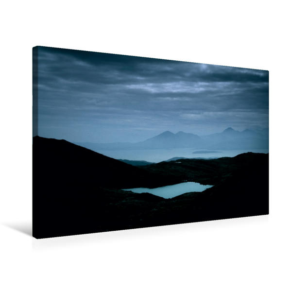 Premium Textil-Leinwand 75 cm x 50 cm quer, Applecross, Schottland | Wandbild, Bild auf Keilrahmen, Fertigbild auf echter Leinwand, Leinwanddruck - Coverbild