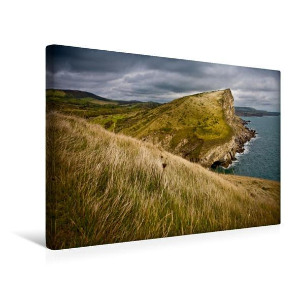 Premium Textil-Leinwand 45 cm x 30 cm quer, Worbarrow Tout, Dorset | Wandbild, Bild auf Keilrahmen, Fertigbild auf echter Leinwand, Leinwanddruck - Coverbild