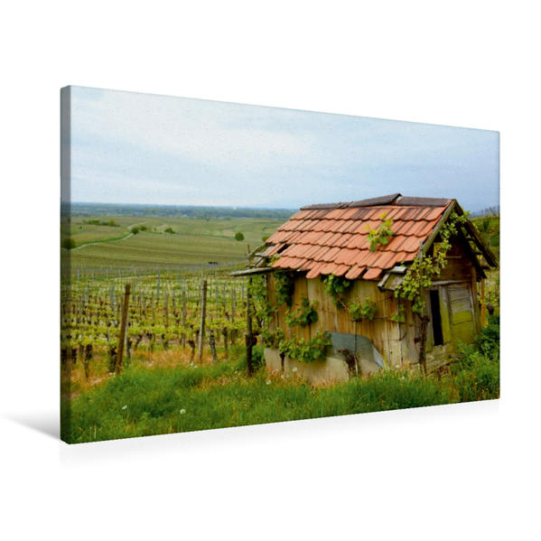 Premium Textil-Leinwand 75 cm x 50 cm quer, Kaiserstuhl | Wandbild, Bild auf Keilrahmen, Fertigbild auf echter Leinwand, Leinwanddruck - Coverbild