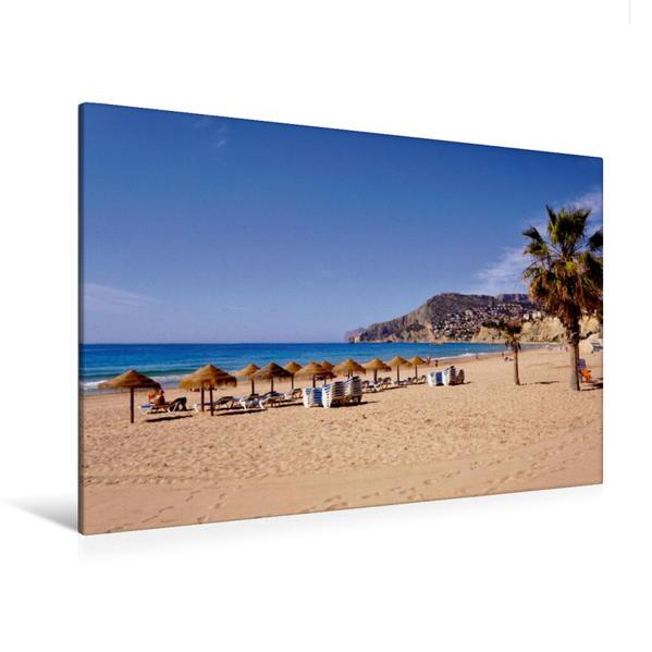 Premium Textil-Leinwand 120 cm x 80 cm quer, Strand Levante | Wandbild, Bild auf Keilrahmen, Fertigbild auf echter Leinwand, Leinwanddruck - Coverbild