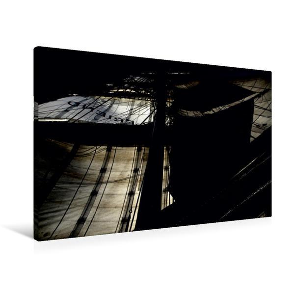 Premium Textil-Leinwand 90 cm x 60 cm quer, Unter Flagge   Wandbild, Bild auf Keilrahmen, Fertigbild auf echter Leinwand, Leinwanddruck - Coverbild