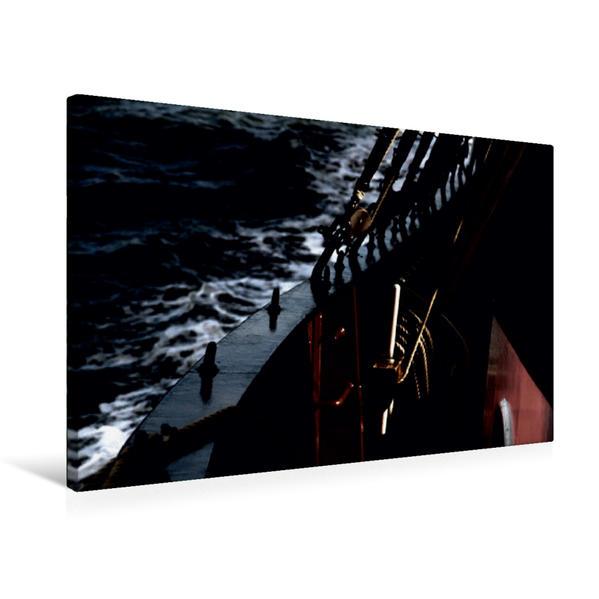 Premium Textil-Leinwand 75 cm x 50 cm quer, Ein Motiv aus dem Kalender Segeln bei Nacht / CH-Version | Wandbild, Bild auf Keilrahmen, Fertigbild auf echter Leinwand, Leinwanddruck - Coverbild