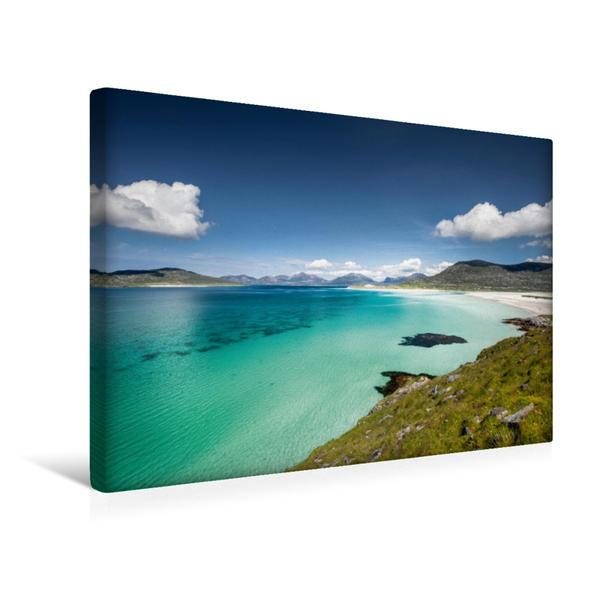 Premium Textil-Leinwand 45 cm x 30 cm quer, Horgabost  Isle of Harris | Wandbild, Bild auf Keilrahmen, Fertigbild auf echter Leinwand, Leinwanddruck - Coverbild