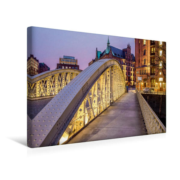 Premium Textil-Leinwand 45 cm x 30 cm quer, Neuerwegsbrücke | Wandbild, Bild auf Keilrahmen, Fertigbild auf echter Leinwand, Leinwanddruck - Coverbild