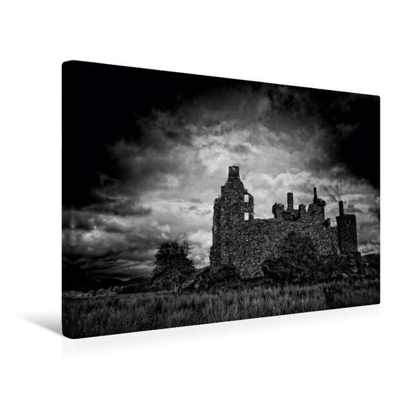 Premium Textil-Leinwand 45 cm x 30 cm quer, Kilchurn Castle, Schottland | Wandbild, Bild auf Keilrahmen, Fertigbild auf echter Leinwand, Leinwanddruck - Coverbild
