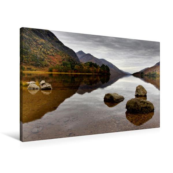 Premium Textil-Leinwand 90 cm x 60 cm quer, Loch Shiel, Glenfinnan, Schottland | Wandbild, Bild auf Keilrahmen, Fertigbild auf echter Leinwand, Leinwanddruck - Coverbild