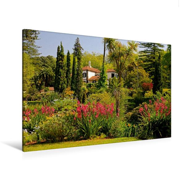 Premium Textil-Leinwand 120 cm x 80 cm quer, Ein Motiv aus dem Kalender Madeira - Gärten und Quintas | Wandbild, Bild auf Keilrahmen, Fertigbild auf echter Leinwand, Leinwanddruck - Coverbild