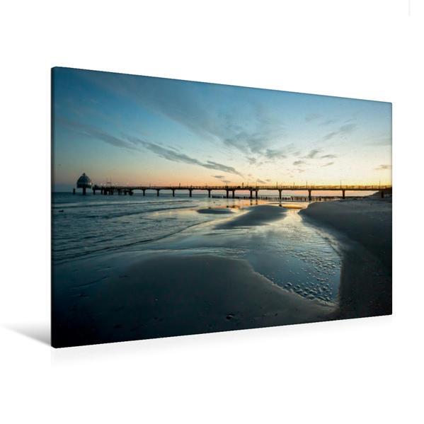 Premium Textil-Leinwand 120 cm x 80 cm quer, Urlaubsparadies Fischland Darß | Wandbild, Bild auf Keilrahmen, Fertigbild auf echter Leinwand, Leinwanddruck - Coverbild